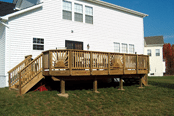 New Wood Deck installed by Clinton Fence Company in Southern Maryland
