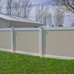 Two tone vinyl fence, Caroline model in Lusby
