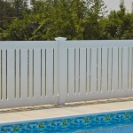 vinyl fence installed for pool in Benedict