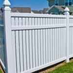 Vinyl Fence -Dorchester model close up in Southern MD