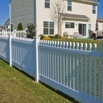 Highland White picket fence in Southern MD