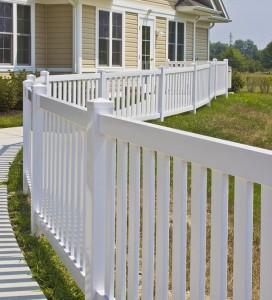 vinyl fence installed