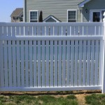 Vinyl Fence -Close up privacy panel near Calvert Beach