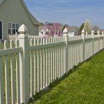 White tuckahoe fencing in Chesapeake Ranch Estates