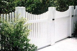 Longevity Classic Scalloped Picket Fence installed by Clinton Fence in Southern Maryland.