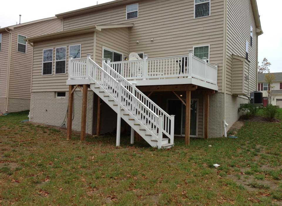 Deck And Stairs Built In Calvert County Md
