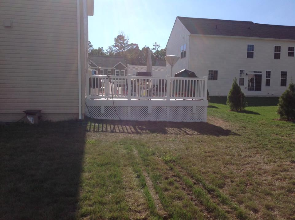 wood privacy deck fences close by Bryans Road