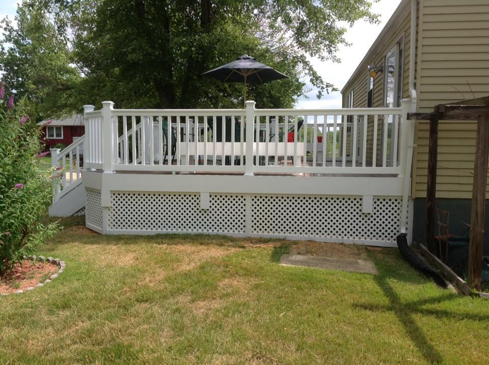 wood privacy fence near Calverton