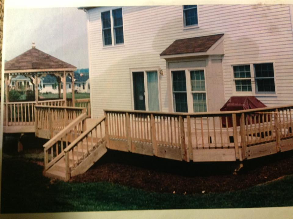 Wood DECK available from Clinton Fence for your home in Huntingtown MD