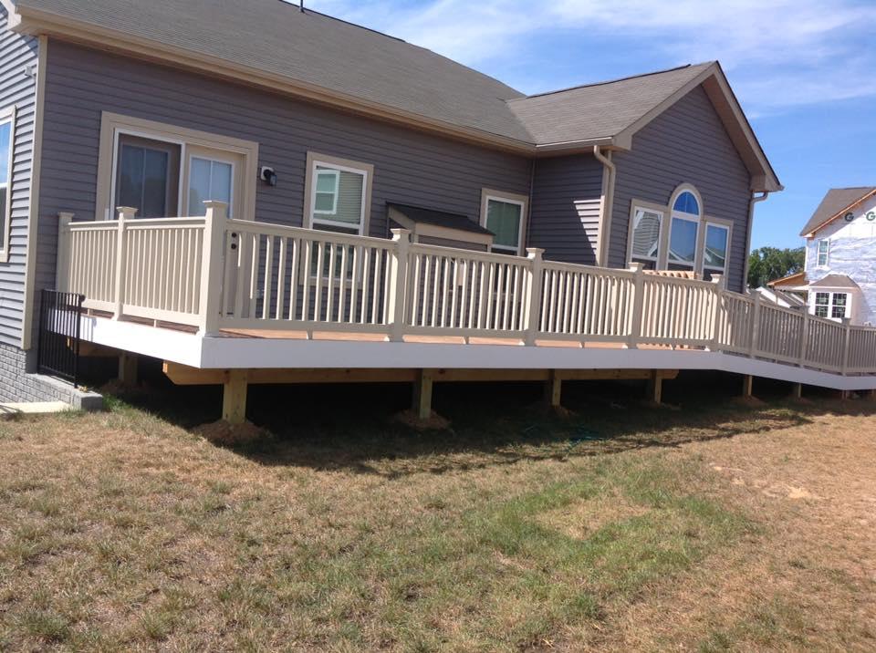 wood decks close by Calvert Beach