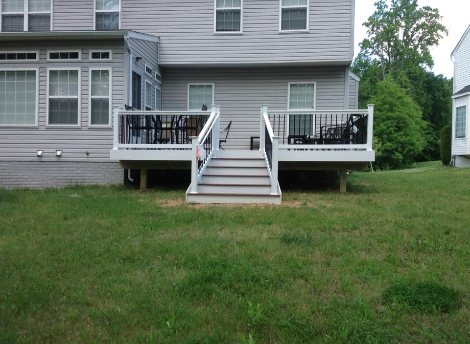 Check out the deck railings from Clinton Fence in Bryans Road