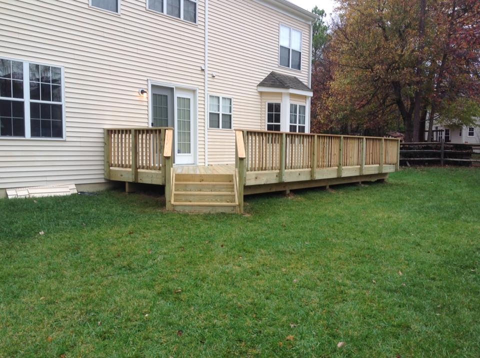 Wood decking available from Clinton Fence for your home in Huntingtown MD.