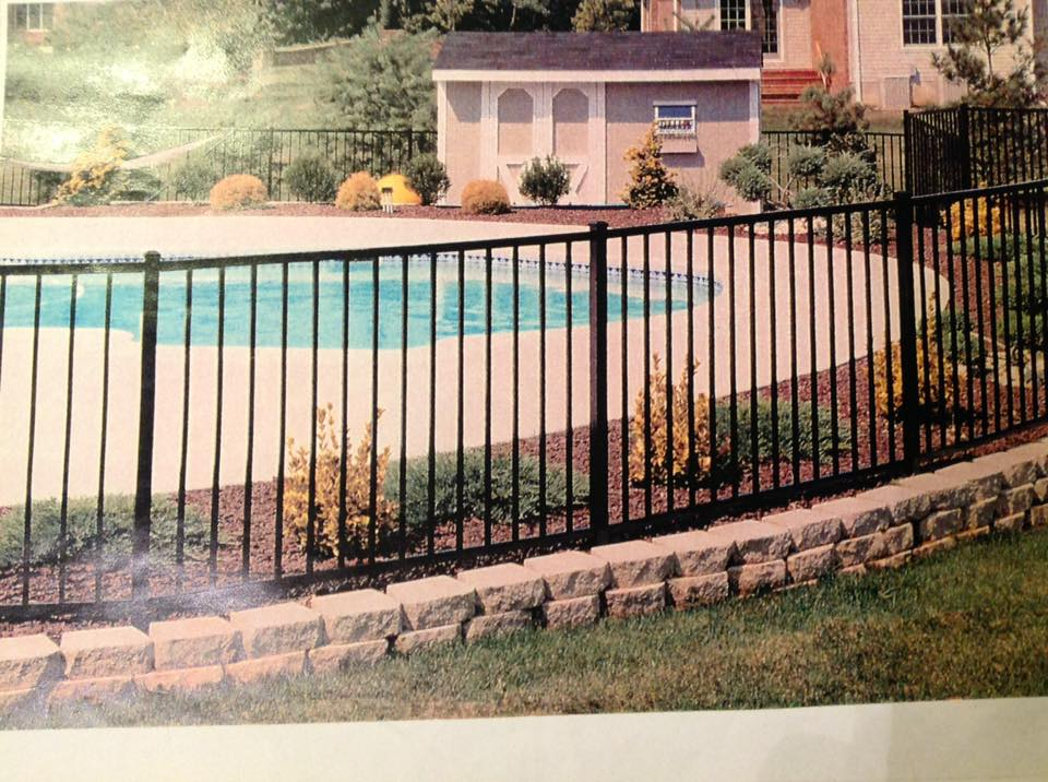 Aluminum Fences near the pools in Chesapeake Ranch Estates