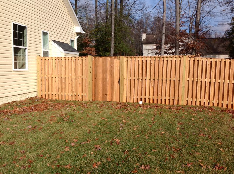 building a wooden gate in Piney Point