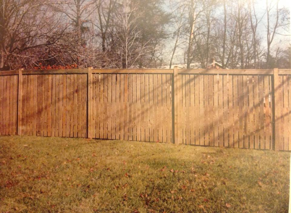 wood privacy fence in Calvert County