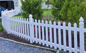 white picket fence in Lusby Md.
