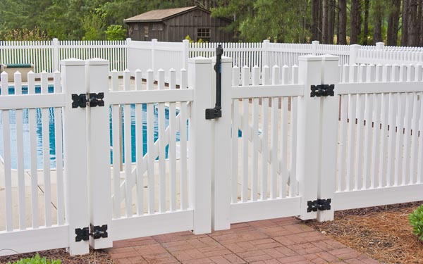 double swing fence gate pool in Leonardtown MD.