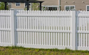 Picket fencing for the a residential property in St. Mary's County MD.