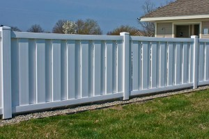 white vinyl shadow box fence in maryland